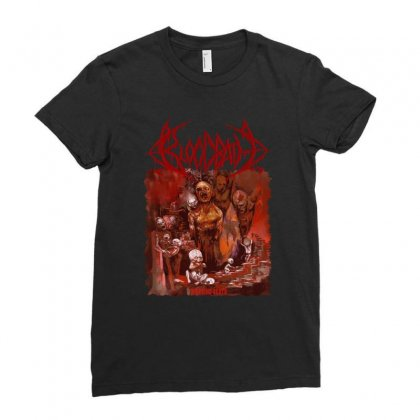 Bloodbath Breeding Death Edge Of Sanity Ladies Fitted T-shirt Designed By Fanshirt