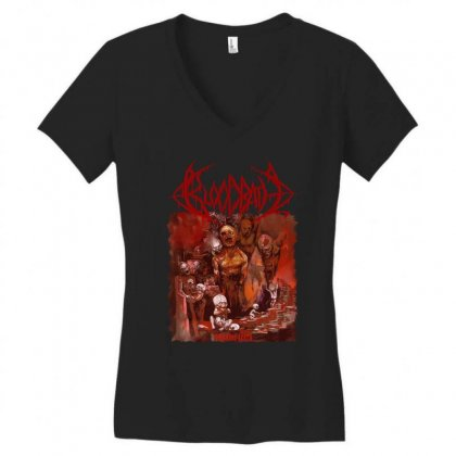 Bloodbath Breeding Death Edge Of Sanity Women's V-neck T-shirt Designed By Fanshirt