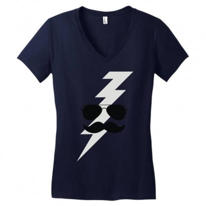 Boots Electric Women's V-neck T-shirt Designed By Fanshirt