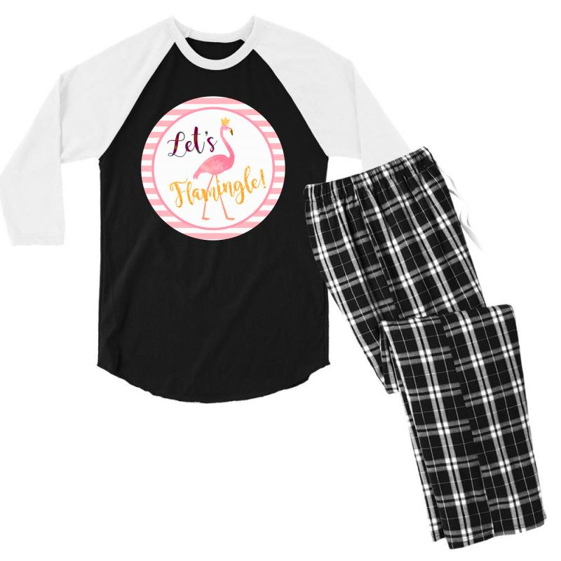 Let's Flamingle Men's 3/4 Sleeve Pajama Set | Artistshot