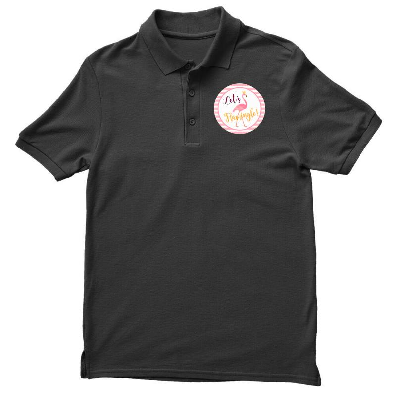 Let's Flamingle Men's Polo Shirt | Artistshot