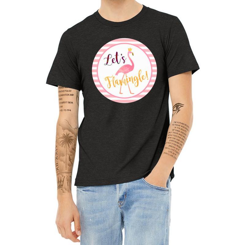 Let's Flamingle Heather T-shirt | Artistshot