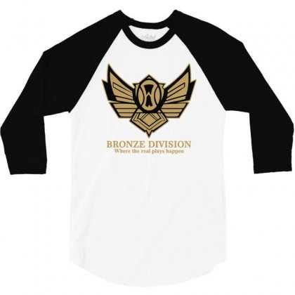 Bronze Division 3/4 Sleeve Shirt Designed By Lyly