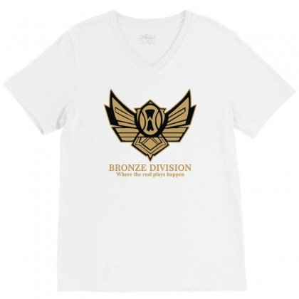Bronze Division V-neck Tee Designed By Lyly