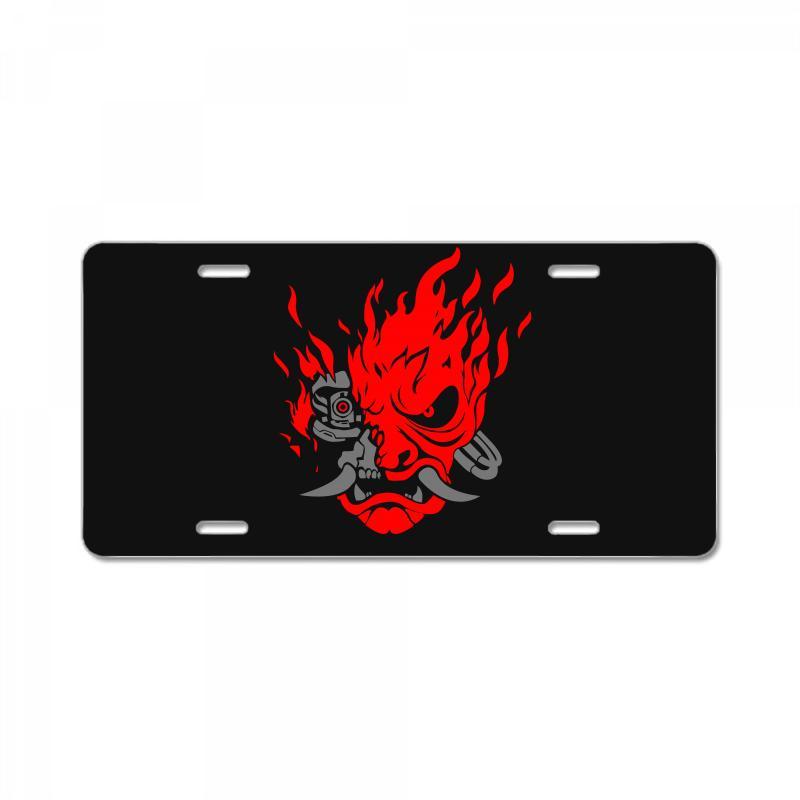 Cyberpunk 2077   Samurai Demon License Plate | Artistshot