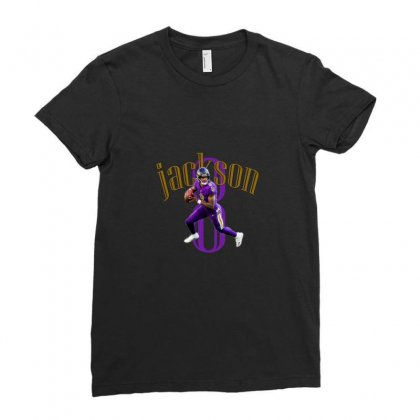 Football Jackson 8 Ladies Fitted T-shirt Designed By Abidostore