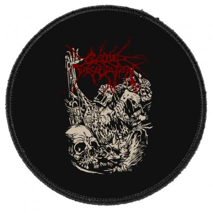 Cattle Decapitation (alone At The Landfill) Round Patch Designed By Lyly