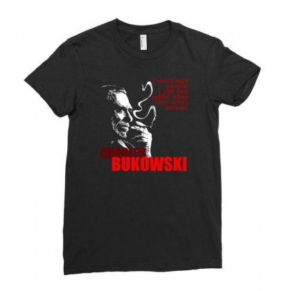 Charles Bukowski Ladies Fitted T-shirt Designed By Lyly