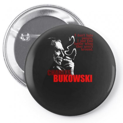 Charles Bukowski Pin-back Button Designed By Lyly
