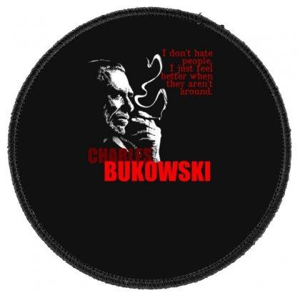 Charles Bukowski Round Patch Designed By Lyly