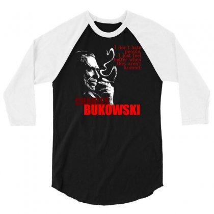 Charles Bukowski 3/4 Sleeve Shirt Designed By Lyly