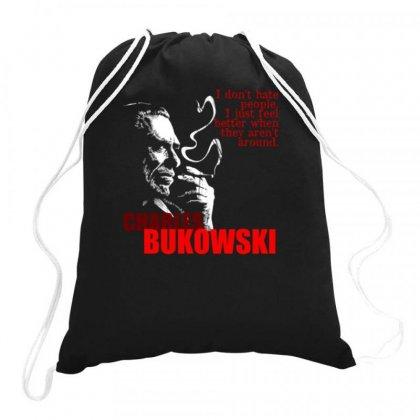 Charles Bukowski Drawstring Bags Designed By Lyly