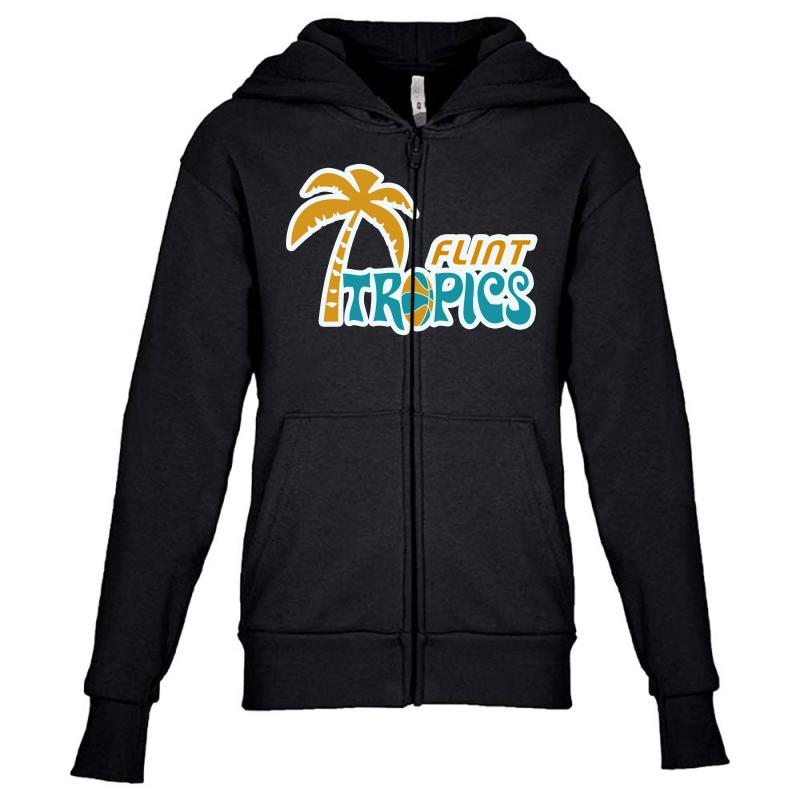 Flint Tropics Retro Youth Zipper Hoodie | Artistshot
