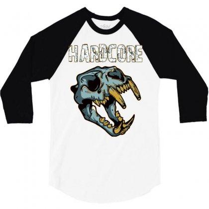 Hardcore T Shirt 3/4 Sleeve Shirt Designed By Bluebubble