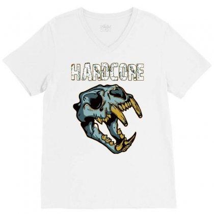 Hardcore T Shirt V-neck Tee Designed By Bluebubble