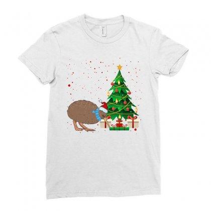 Kiwi Bird Christmas For Light Ladies Fitted T-shirt Designed By Sengul