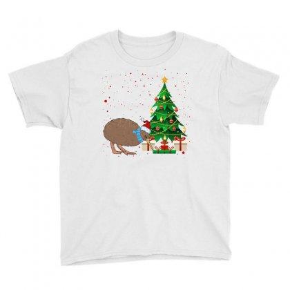 Kiwi Bird Christmas For Light Youth Tee Designed By Sengul