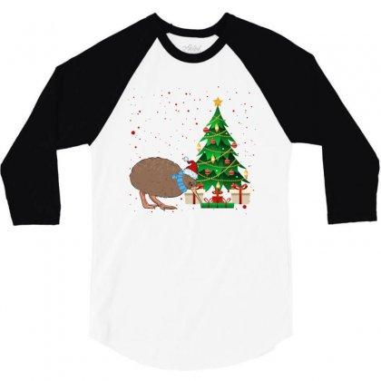 Kiwi Bird Christmas For Light 3/4 Sleeve Shirt Designed By Sengul
