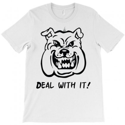 Deal With It Angry Pitbul T-shirt Designed By Mdk Art