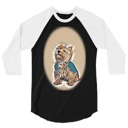 Land White Terrier 3/4 Sleeve Shirt Designed By Kemnabi