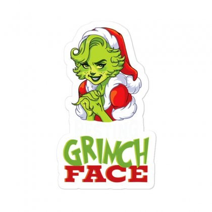 Mom's Resting Grinch Face Sticker Designed By Tiococacola