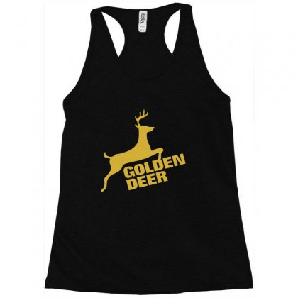Golden Deer Emblem Racerback Tank Designed By Michelziud