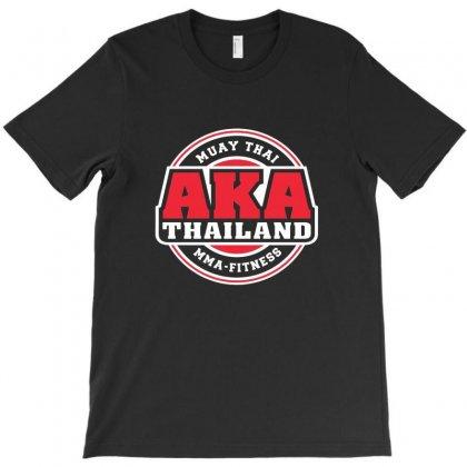 Aka Thailand Gym Logo Muay Thai Mma Kick Boxing T-shirt Designed By Pujangga45
