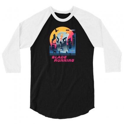 Blade Running 3/4 Sleeve Shirt Designed By Baron