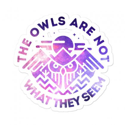 The Owls Are Not What They Seem Sticker Designed By Blackheart