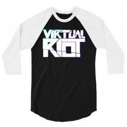 virtual riot 3/4 Sleeve Shirt | Artistshot