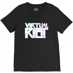 virtual riot V-Neck Tee | Artistshot