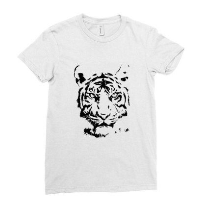 Tiger Ladies Fitted T-shirt Designed By Estore