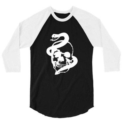 Skull, Snake 3/4 Sleeve Shirt Designed By Estore