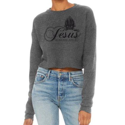Jesus Cropped Sweater Designed By Estore
