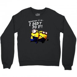 despicable me minions i didn't do it stuart dave Crewneck Sweatshirt | Artistshot