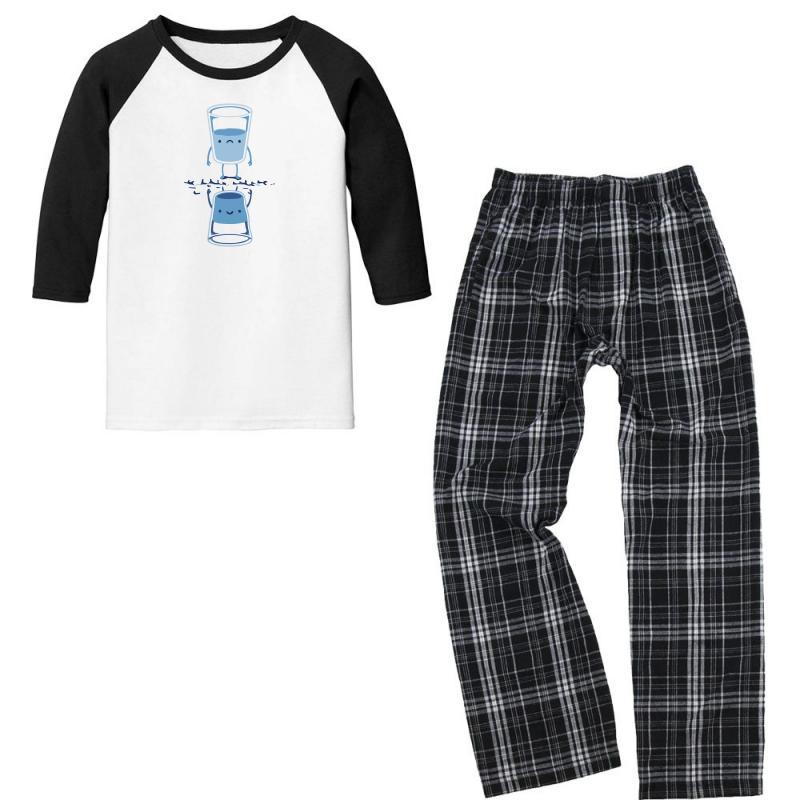 Bright Side Youth 3/4 Sleeve Pajama Set   Artistshot