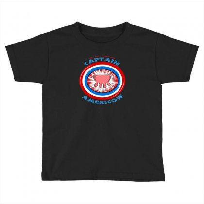 Calling Captain Americow! Toddler T-shirt Designed By Baron