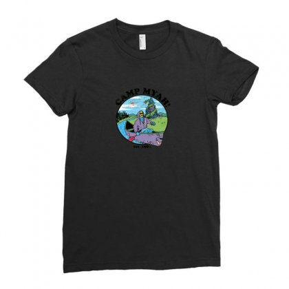 Camp Myah Ladies Fitted T-shirt Designed By Baron