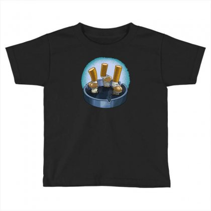 Cigarette Butts Toddler T-shirt Designed By Baron