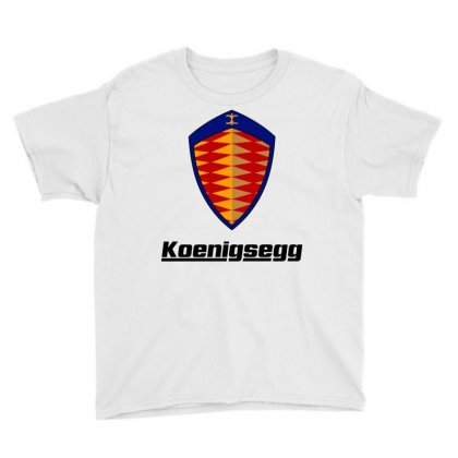 Koenigsegg Logo Youth Tee Designed By Animestars