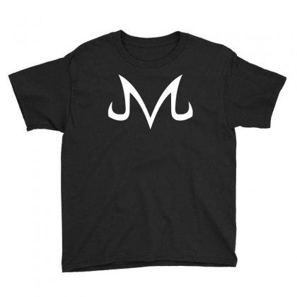 Majin Logo White Youth Tee Designed By Animestars