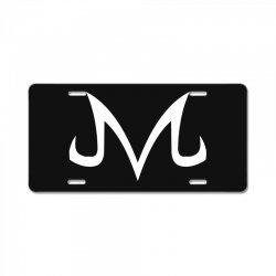 majin logo white License Plate | Artistshot