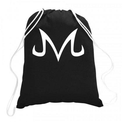 Majin Logo White Drawstring Bags Designed By Animestars