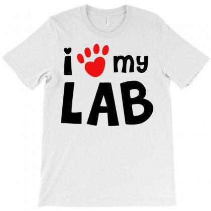 I Love My Lab Labrador T-shirt Designed By Mdk Art