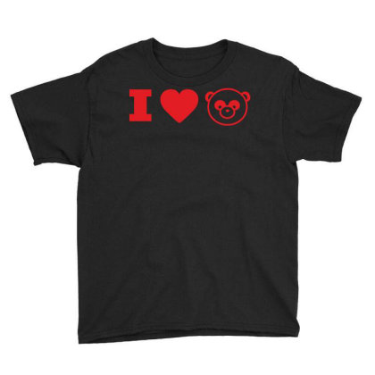 I Love Panda Youth Tee Designed By Estore