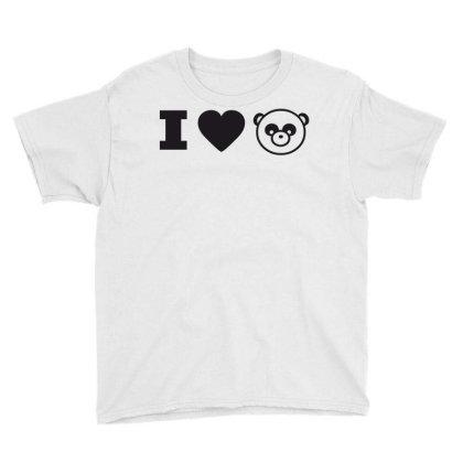 I Love Panda Youth Tee Designed By Estore