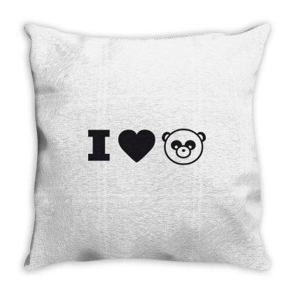 I Love Panda Throw Pillow Designed By Estore