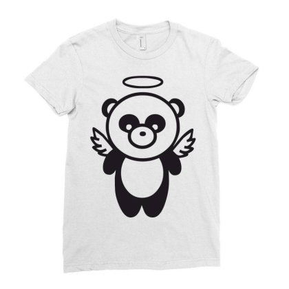 Panda Ladies Fitted T-shirt Designed By Estore