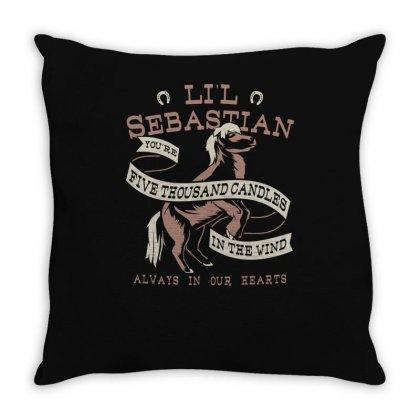 Li'l Sebastian Throw Pillow Designed By Baron
