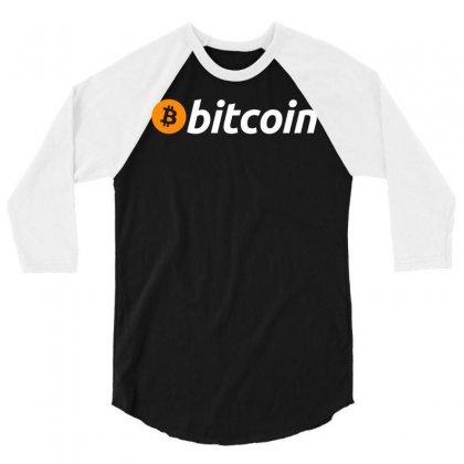 Bitcoin Crypto Currency 3/4 Sleeve Shirt Designed By Animestars